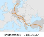 refugee migrant crisis europe   ... | Shutterstock .eps vector #318103664