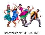cabaret dancer team dancing.... | Shutterstock . vector #318104618