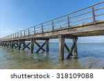 old weathered wooden jetty on... | Shutterstock . vector #318109088
