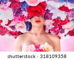 portrait of a brunette lady in... | Shutterstock . vector #318109358