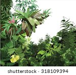 background  tropical  plant ... | Shutterstock .eps vector #318109394