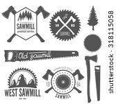 set of logo  labels  badges and ... | Shutterstock .eps vector #318115058