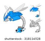 robot dragonfly cartoon... | Shutterstock .eps vector #318116528