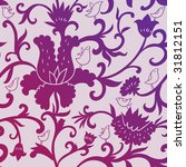 birds in flowers   seamless...   Shutterstock .eps vector #31812151