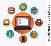 retro and vintage technology... | Shutterstock .eps vector #318124739