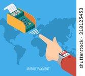smart watch payment concept.... | Shutterstock .eps vector #318125453
