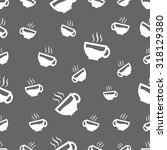 seamless pattern with coffee cup | Shutterstock .eps vector #318129380