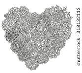 heart shaped pattern for... | Shutterstock .eps vector #318132113