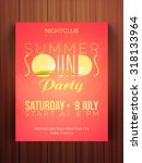 summer sounds party celebration ... | Shutterstock .eps vector #318133964