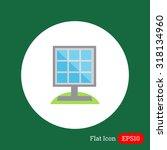 solar panel icon   Shutterstock .eps vector #318134960