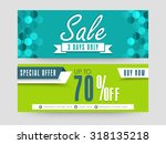 creative sale website header or ...   Shutterstock .eps vector #318135218