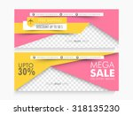mega sale with discount offers  ... | Shutterstock .eps vector #318135230