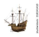 Antique Model Sailing Ship...