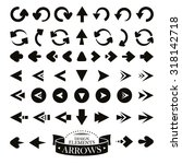 set of different arrow icons... | Shutterstock .eps vector #318142718