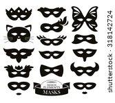 set of different masks vector... | Shutterstock .eps vector #318142724