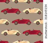 seamless pattern with retro ... | Shutterstock .eps vector #318145154