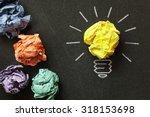 inspiration concept crumpled... | Shutterstock . vector #318153698
