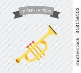 trumpet icon | Shutterstock .eps vector #318156503