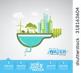 ecology save the water vector... | Shutterstock .eps vector #318163604
