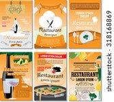 restaurant poster design set  ...