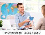 photo of male travel agent and... | Shutterstock . vector #318171650