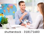 photo of male travel agent and... | Shutterstock . vector #318171683
