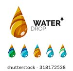 set of abstract eco water icons ... | Shutterstock .eps vector #318172538
