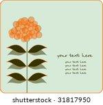 vector floral card | Shutterstock .eps vector #31817950