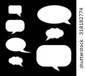 set of speech bubbles. | Shutterstock .eps vector #318182774