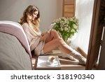 beautiful woman morning ... | Shutterstock . vector #318190340