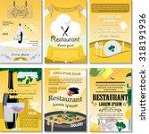 restaurant poster design set  ... | Shutterstock .eps vector #318191936
