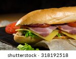 huge sandwich stuffed with... | Shutterstock . vector #318192518