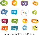blog design  web 2.0 | Shutterstock .eps vector #31819372