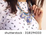 girl with the golden blue... | Shutterstock . vector #318194333