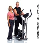 healthy fitness elderly couple. ... | Shutterstock . vector #318195026