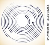 concentric circulating ... | Shutterstock .eps vector #318198266