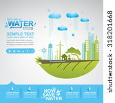 save the water vector | Shutterstock .eps vector #318201668
