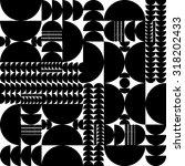 vector seamless black and white ... | Shutterstock .eps vector #318202433