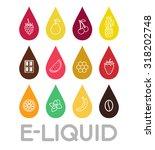 icons of  e liquid. vector e... | Shutterstock .eps vector #318202748