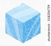 cartoon isometric ice game...