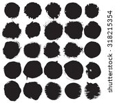 round vector ink  watercolor... | Shutterstock .eps vector #318215354