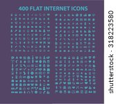 400 web flat icons | Shutterstock .eps vector #318223580
