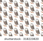 sleeping owls seamless pattern... | Shutterstock .eps vector #318223820