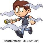 scared cartoon boy with... | Shutterstock .eps vector #318224204