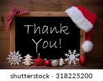 blackboard with red santa hat... | Shutterstock . vector #318225200