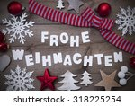 white letters with german frohe ... | Shutterstock . vector #318225254