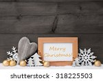 golden christmas decoration on... | Shutterstock . vector #318225503