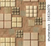 3d  pattern of wooden squares ... | Shutterstock . vector #318226370