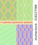set of seamless geometric... | Shutterstock .eps vector #318227588