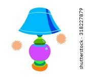 cartoon lamp flat icon. the... | Shutterstock .eps vector #318227879